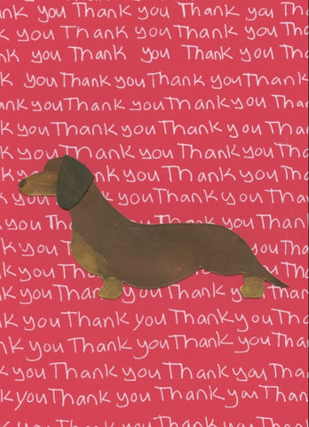 Dachshund Thank You Greeting Card (6-pack)