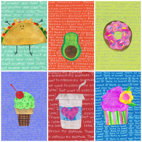 New! Tasty Assortment Blank Cards (6-pack)