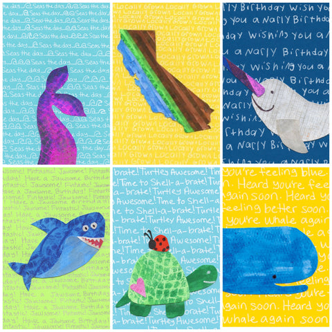 New! Cali Coast Assortment Blank Cards (6-pack)