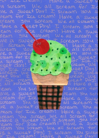 Mint Chip Cone Birthday Card (6-pack)
