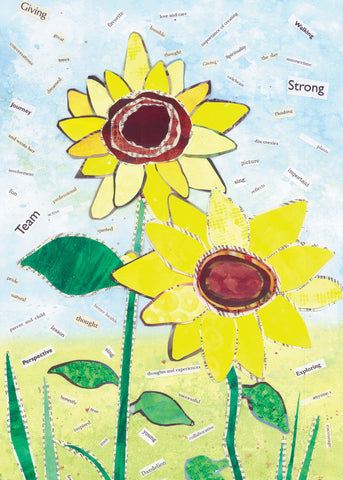Mixed Media Sunflower 1 (6-pack)