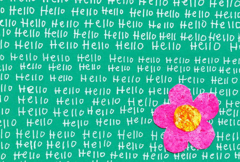 Hello Blank Note Card (10-Pack)