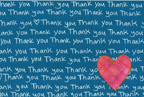 Thank You Blank Note Cards (10-pack)