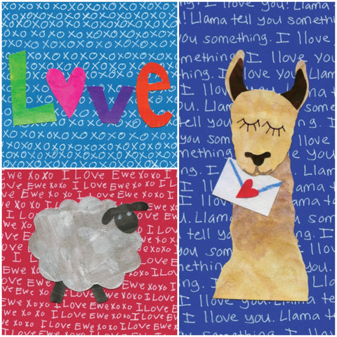 Love -Themed Note Cards (12-Pack)