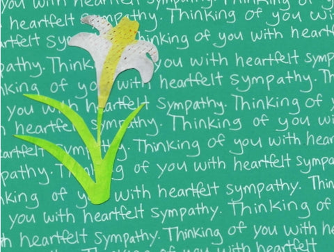 Sympathy Lily Blank Card (6-pack)