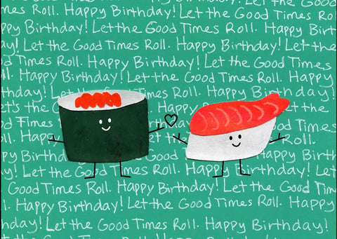 Sushi Birthday Card (6-Pack)