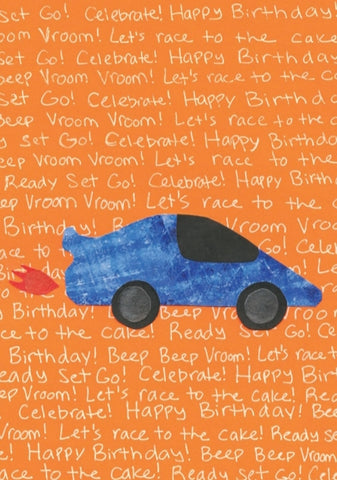 Race Car Birthday Card (6-pack)