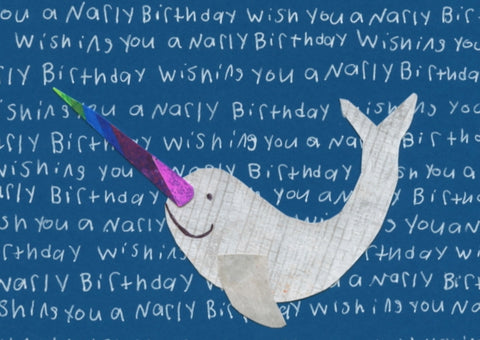 Gnarly Narwhal Birthday Card (6 pack)