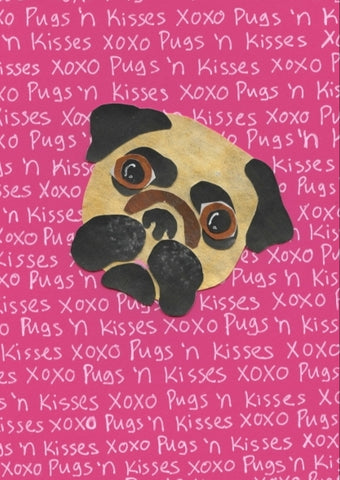 Pugs 'n Kisses Card (6 pack)
