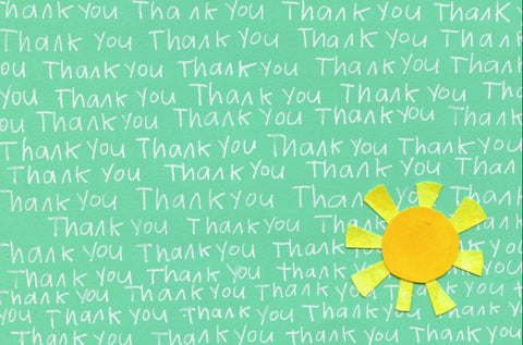 Thank You Sunshine Blank Note Cards (Box Set of 10)