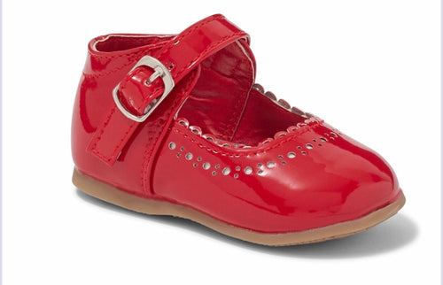 Red Hard Sole Shoes