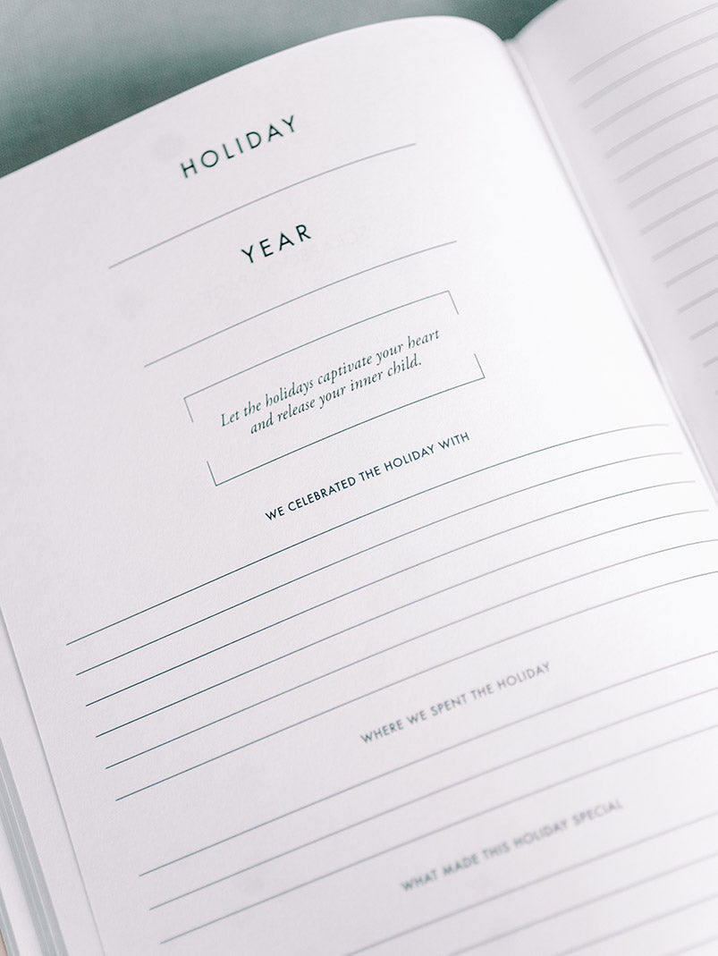 Holiday Journal by Archive Collection Entry Page