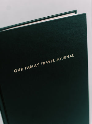 Our Family Travel Journal Front Cover Angled