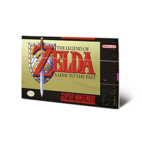 Legend of Zelda Link to the Past SNES Game Cover Art 8″ x 12″Wood Print