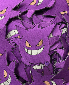 Gengar Pokemon Custom Embroidered Iron-On/Sew-On Patch, Patches