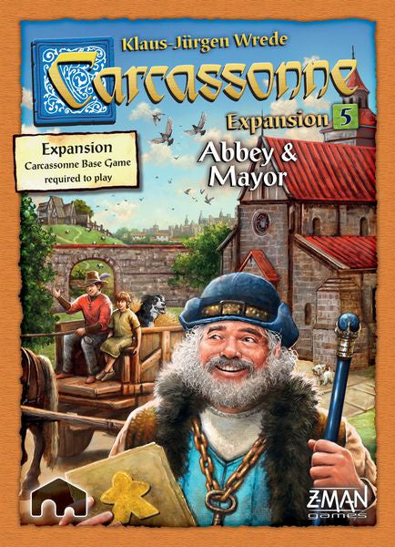 Carcassonne Exp: 5 - Abbey & Mayor (New Edition)