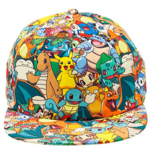 POKEMON - Allover Character Print Snap Back Multi