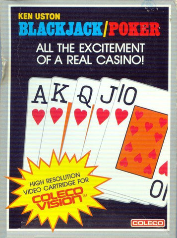 Blackjack/Poker (White Text Label) - Colecovision (Pre-owned)