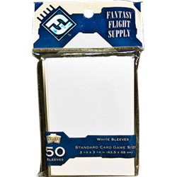Fantasy Flight Standard Game Sleeves (50 Count) - White