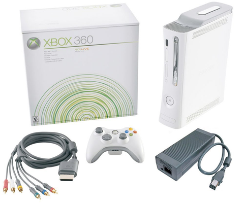 Xbox 360 White Original Core System Console w/20 GB Hard Drive in Box