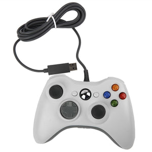 XBOX 360 WIRED CONTROLLER - WHITE 3RD PARTY (OUT OF PACKAGE)