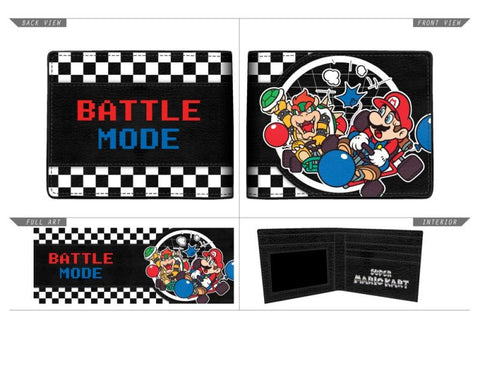 Nintendo - Mario kart Battle Bifold Wallet Black