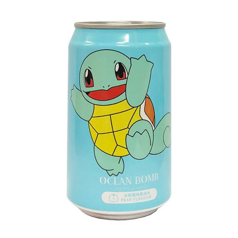 Squirtle Ocean Bomb Sparkling Water Pear Flavour 330ml