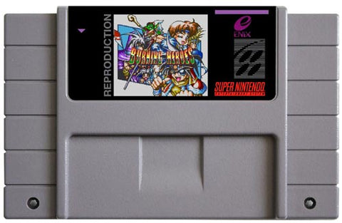 Burning Heroes (Reproduction) - SNES (Pre-owned)