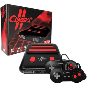 CLASSIQ 2 BLACK/RED NES/SNES NTSC/PAL SYSTEM [OLD SKOOL]