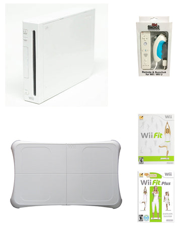 Wii System Console with Wii Fit & Wii Fit Plus and Balance Board Bundle - Wii (Pre-owned)