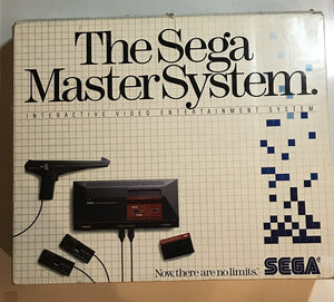 Sega Master System Console in Box w/Hang On & Safari Hunt