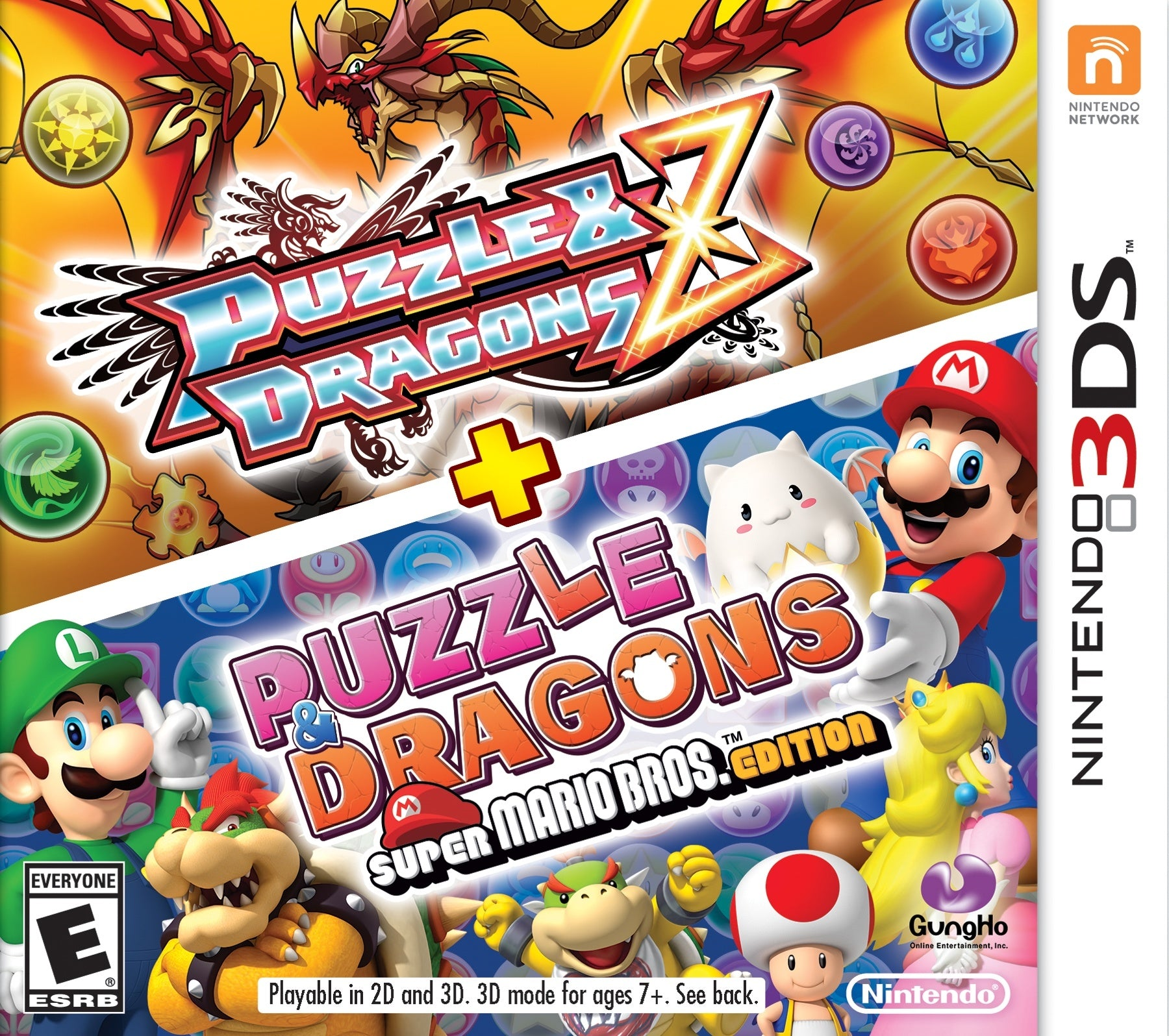 Puzzle & Dragons Z + Puzzle & Dragons Super Mario Bros. - 3DS (Pre-owned)