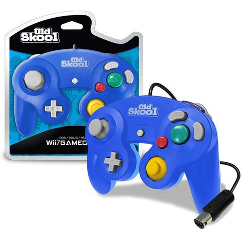 Blue/Blue Gamecube Controller [Old Skool]