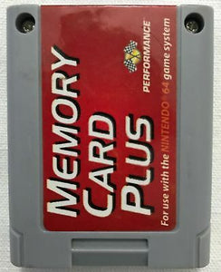 N64 Memory Card Plus Performance Brand Controller Pack Expansion Nintendo Used