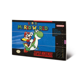 Super Mario World SNES Game Cover Art 8″ x 12″ Wood Print