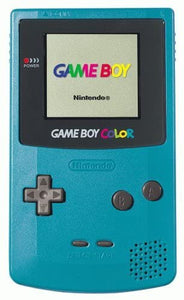 Gameboy Color System Console - Teal (New Screen Cover) - GBC (Pre-owned)