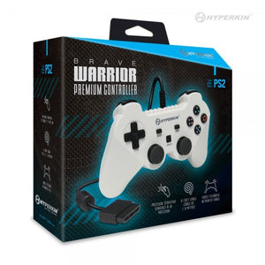 Brave Warrior Premium Controller For PS2 (White) - Hyperkin