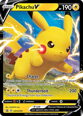 Pikachu V (SWSH: Sword & Shield Promo Cards) - SWSH061