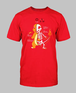 Charmander Anatomy T-Shirt