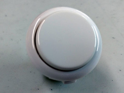 Sanwa Button Solid Colour OBSF-30mm Pushbutton (White)