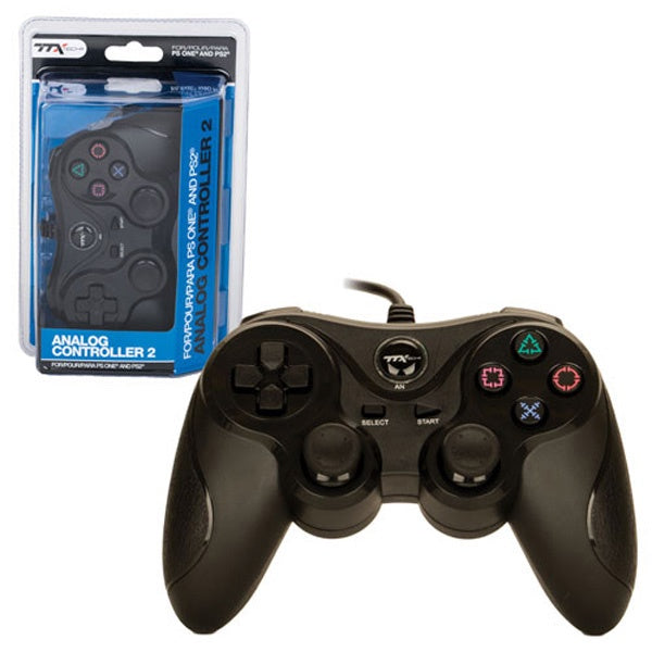 BLACK DUALSHOCK 2 WIRED CONTROLLER [TTX TECH]