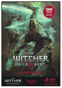 The Witcher 3: Wild Hunt - Ciri and The Wolves Deluxe Puzzle (1000 Pieces)