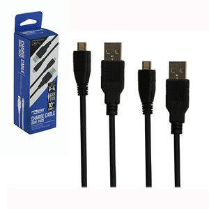 PS4 USB CTRL CHARGE CBL 10FT TWIN PACK [KMD]
