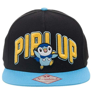 POKEMON - PIPLUP - 3D Embroidered Snapback Blue/Black