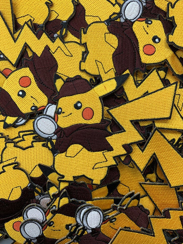 Detective Pikachu Pokemon Custom Embroidered Iron-On/Sew-On Patch