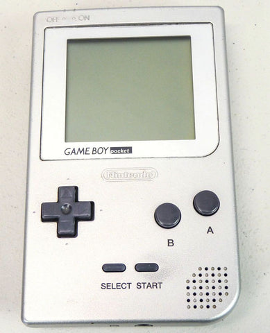 Game Boy Pocket Silver MGB-001 System Console (Silver Boarder Screen)