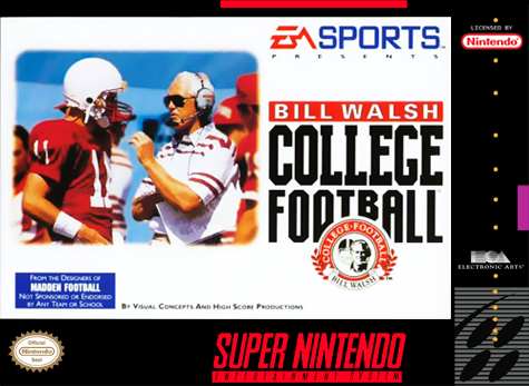 Bill Walsh College Football - SNES (Pre-owned)