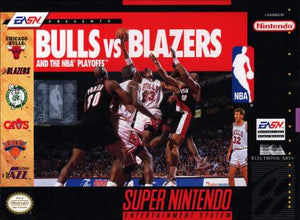 Bulls Vs Blazers and the NBA Playoffs - SNES (Pre-owned)