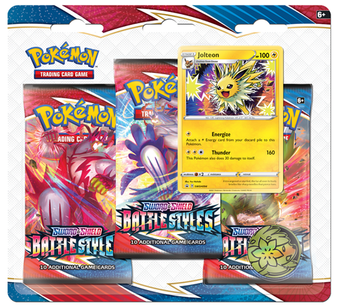 Pokemon Battle Styles - 3 Pack Blister - Jolteon (Pre-order)