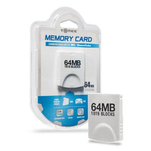 Wii/GC Tomee 64MB Memory Card (1019 Blocks)